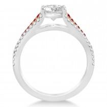 Ruby & Diamond Engagement Ring 14k Rose Gold (0.33ct)