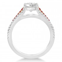 Ruby & Diamond Engagement Ring 18k Rose Gold (0.33ct)