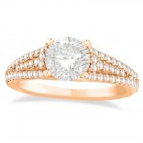 Diamond Accented Three Row Bridal Set 14k Rose Gold (0.47ct)
