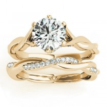 Diamond 6-Prong Twisted Bridal Set Setting 18k Yellow Gold (0.19ct)