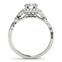 Butterfly Halo Diamond Engagement Ring Palladium (0.14ct)