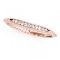 Diamond Single-Row Wedding Band 18k Rose Gold (0.05 ct)