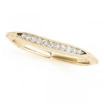 Diamond Single-Row Wedding Band 18k Yellow Gold (0.05 ct)