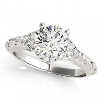 Diamond Antique Style Swirl Engagement Ring Palladium (1.17ct)