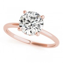 Diamond Solitaire Engagement Ring 14k Rose Gold (1.07ct)