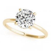 Diamond Solitaire Engagement Ring 14k Yellow Gold (1.07ct)