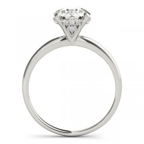 Diamond Solitaire Engagement Ring 18k White Gold (1.07ct)
