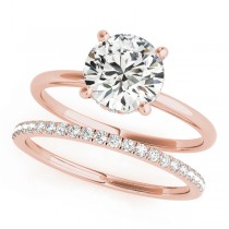Diamond Solitaire Bridal Set 14k Rose Gold (1.20ct)