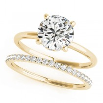 Diamond Solitaire Bridal Set 14k Yellow Gold (1.20ct)