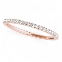 Amethyst & Diamond Solitaire Bridal Set 14k Rose Gold (1.20ct)