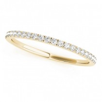 Diamond Prong Wedding Band 18k Yellow Gold (0.13ct)