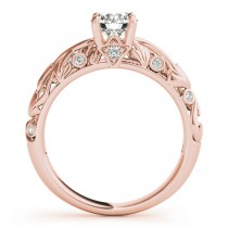 Diamond Antique Style Engagement Ring 14k Rose Gold (0.68ct)