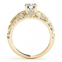Diamond Antique Style Engagement Ring 14k Yellow Gold (0.68ct)