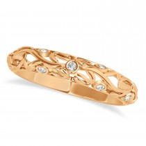Diamond Antique Style Bridal Set 14k Rose Gold (0.68ct)