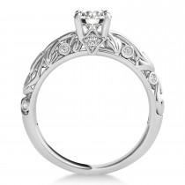 Diamond Antique Style Bridal Set 14k White Gold (0.75ct)