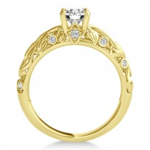 Diamond Antique Style Bridal Set 14k Yellow Gold (0.68ct)