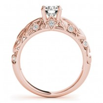 Diamond Antique Style Bridal Set 18k Rose Gold (0.68ct)