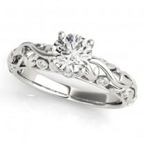 Diamond Antique Style Bridal Set 18k White Gold (0.68ct)