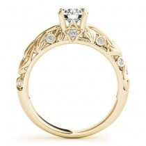 Diamond Antique Style Bridal Set 18k Yellow Gold (0.68ct)