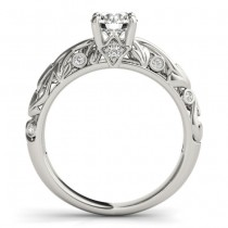 Diamond Antique Style Bridal Set Palladium (0.68ct)