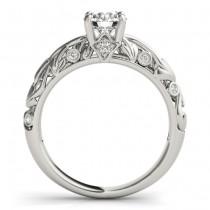 Diamond Antique Style Bridal Set Platinum (0.68ct)