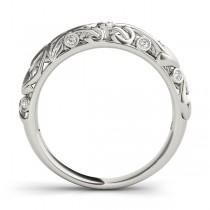 Diamond Antique Style Wedding Band Platinum (0.07 ctw)