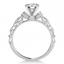 Diamond Antique Style Engagement Ring Platinum (1.12ct)