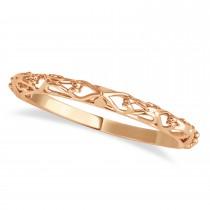 Amethyst & Diamond Antique Style Bridal Set 14k Rose Gold (0.87ct)