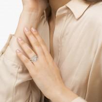 Diamond Antique Style Bridal Set Setting Platinum (0.12ct)