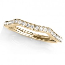 Diamond Curved Wedding Band Ring 18k Yellow Gold (0.21ct)