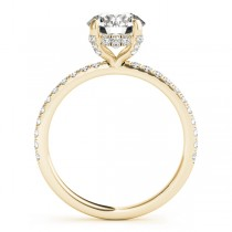 Diamond Solitaire Engagement Ring w Accents 14k Yellow Gold 1.26ct