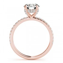 Diamond Accented Solitaire Bridal Set 14k Rose Gold (1.45ct)
