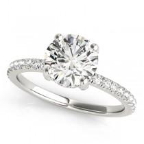 Diamond Accented Solitaire Bridal Set Palladium (1.45ct)