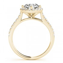 Diamond East West Halo Engagement Ring 14k Yellow Gold (0.96ct)
