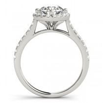 Diamond East West Halo Engagement Ring Palladium (0.96ct)