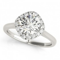 Diagonal Diamond Halo East West Engagement Ring Palladium 1.16ct