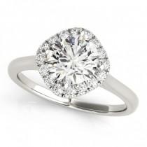 Diagonal Diamond Halo East West Engagement Ring Palladium 1.16ct