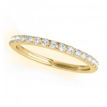 Diamond Prong Wedding Band Ring 14k Yellow Gold (0.17ct)
