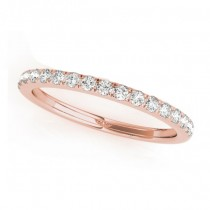 Diamond Prong Wedding Band Ring 18k Rose Gold (0.17ct)