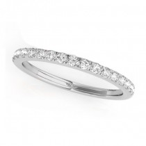 Diamond Prong Wedding Band Ring 18k White Gold (0.17ct)