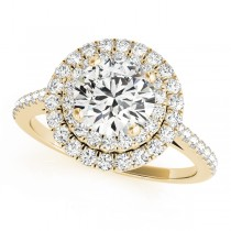 Double Halo Diamond Engagement Ring 14k Yellow Gold (1.50ct)
