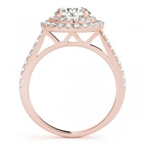 Double Halo Diamond Bridal Set 18k Rose Gold (1.64ct)
