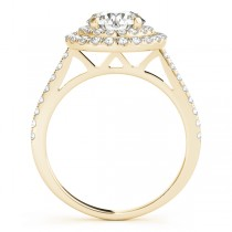 Double Halo Diamond Bridal Set 18k Yellow Gold (1.64ct)