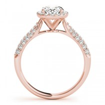 Oval-Cut Halo pave' Diamond Engagement Ring 18k Rose Gold (2.33ct)