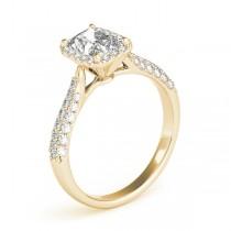 Emerald-Cut Halo pave' Diamond Engagement Ring 18k Yellow Gold (2.38ct)