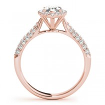 Diamond Marquise Halo Engagement Ring 14k Rose Gold (2.00ct)