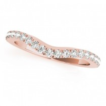 Diamond Contoured Wedding Band 14k Rose Gold (0.32ct)
