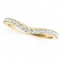 Diamond Contoured Wedding Band 14k Yellow Gold (0.32ct)