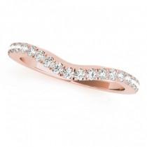 Diamond Contoured Wedding Band 18k Rose Gold (0.32ct)