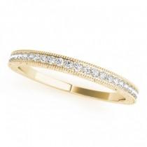 Diamond Prong Wedding Band Ring 14k Yellow Gold (0.10ct)